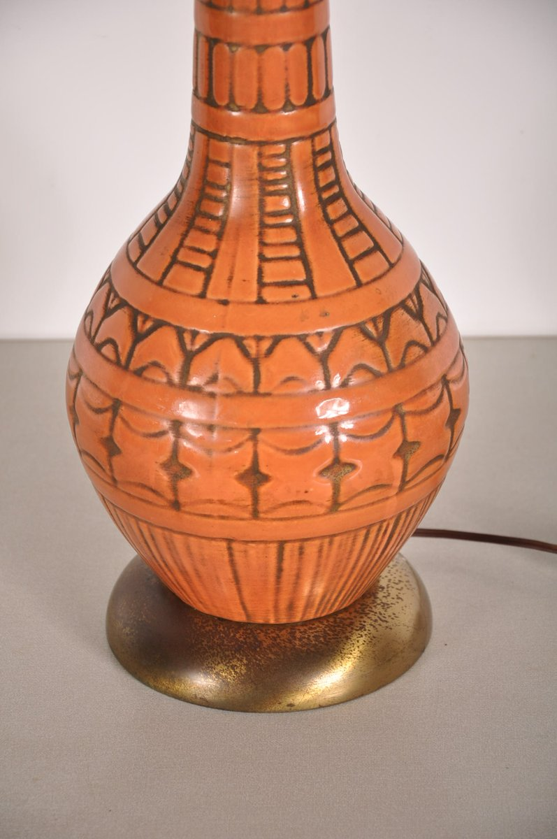 Mid Century French Ceramic Table Lamp For Sale At Pamono