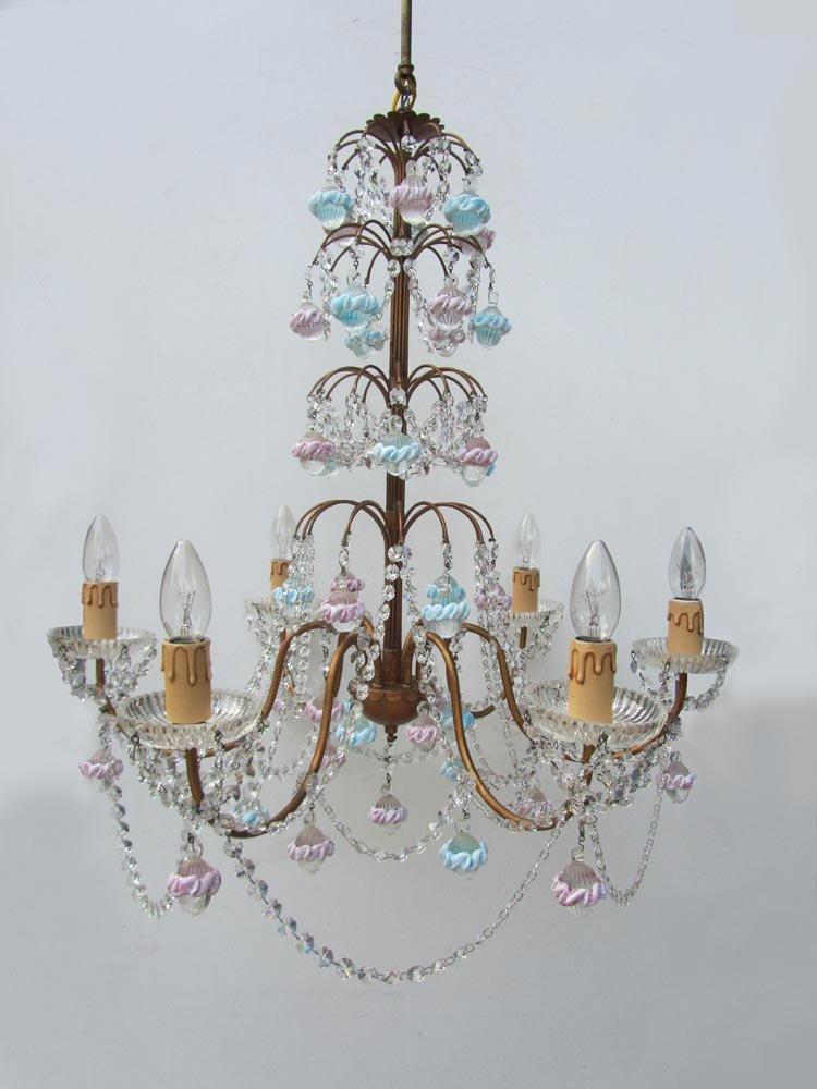 lustre en verre de murano et cristal italie en vente sur pamono. Black Bedroom Furniture Sets. Home Design Ideas