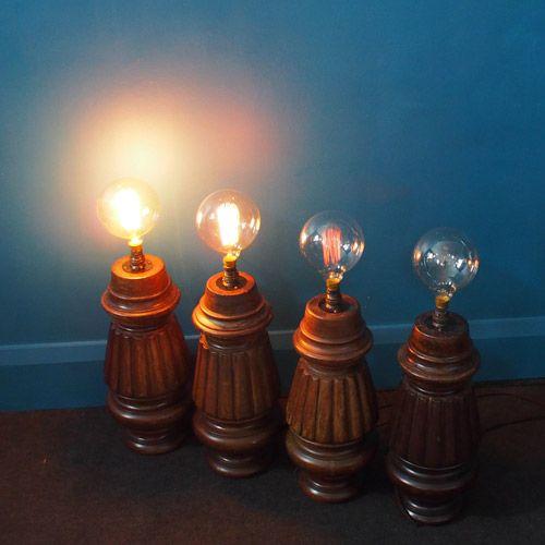 Lampe de bureau vintage avec pied table de billard en vente sur pamono - Lampe pour table de billard ...