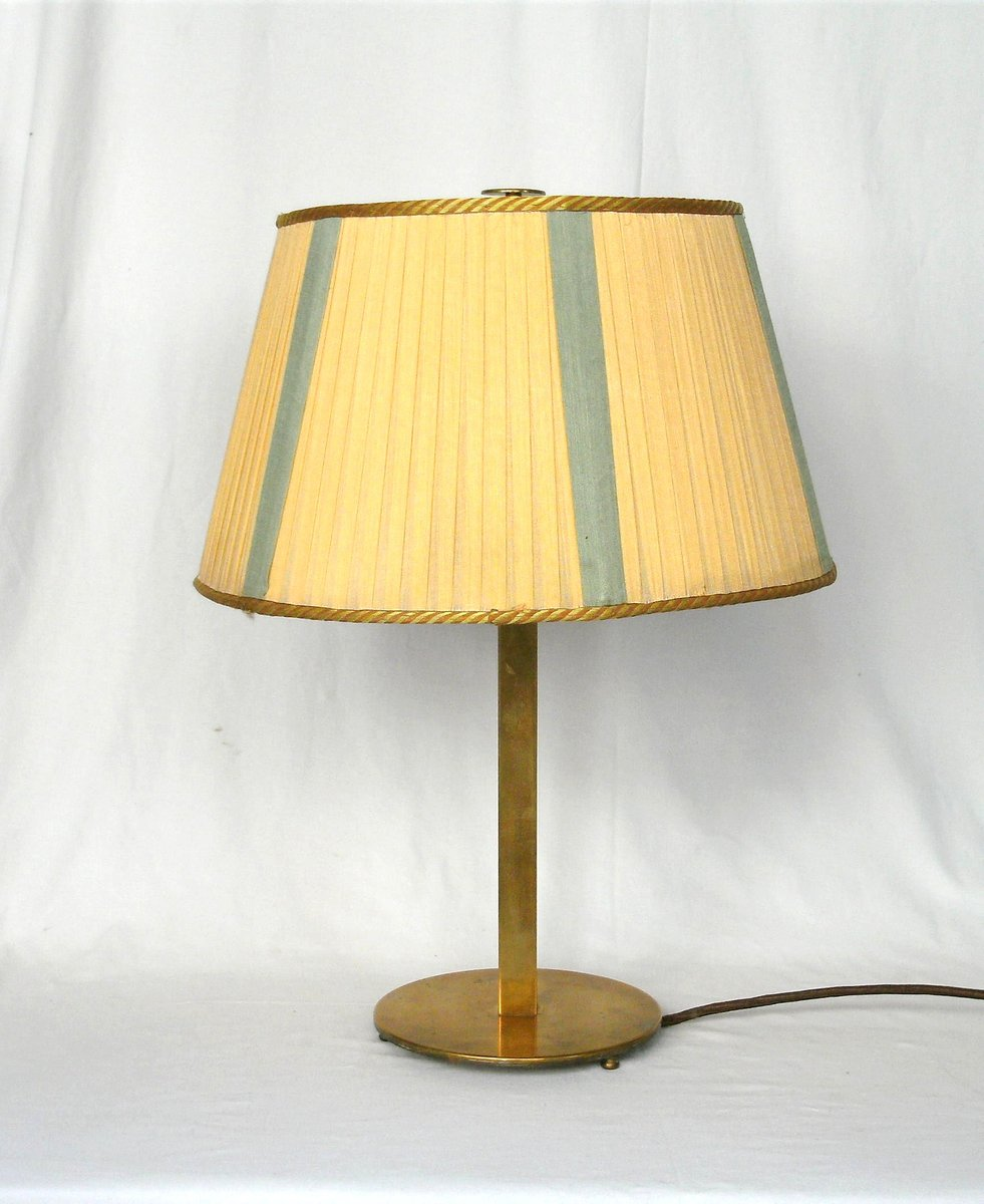 Large art deco brass table lamp en venta en pamono aloadofball Choice Image