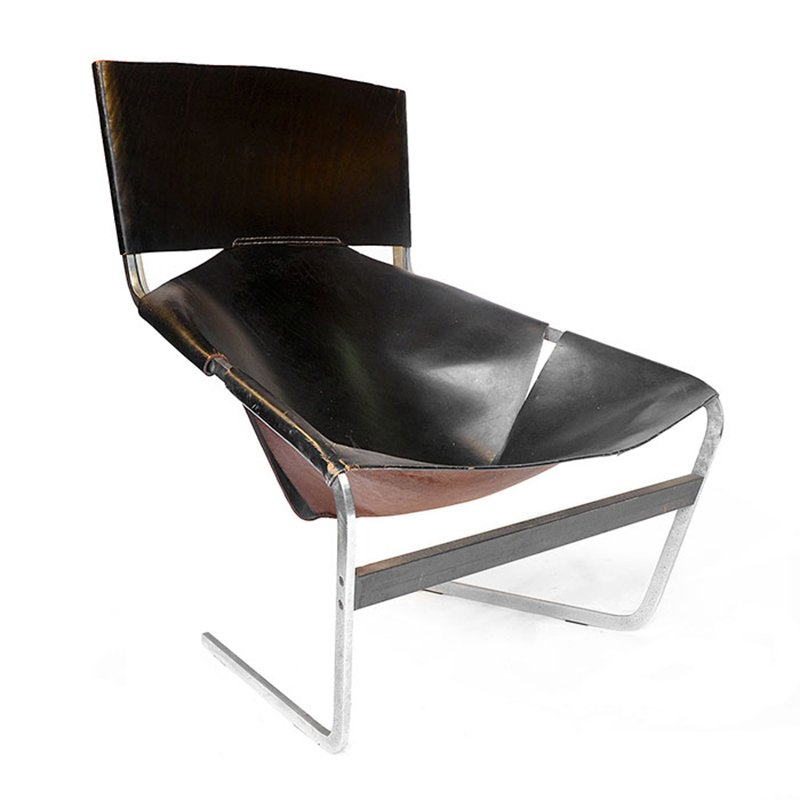 Vintage F 444 Black Lounge Chair By Pierre Paulin For Artifort