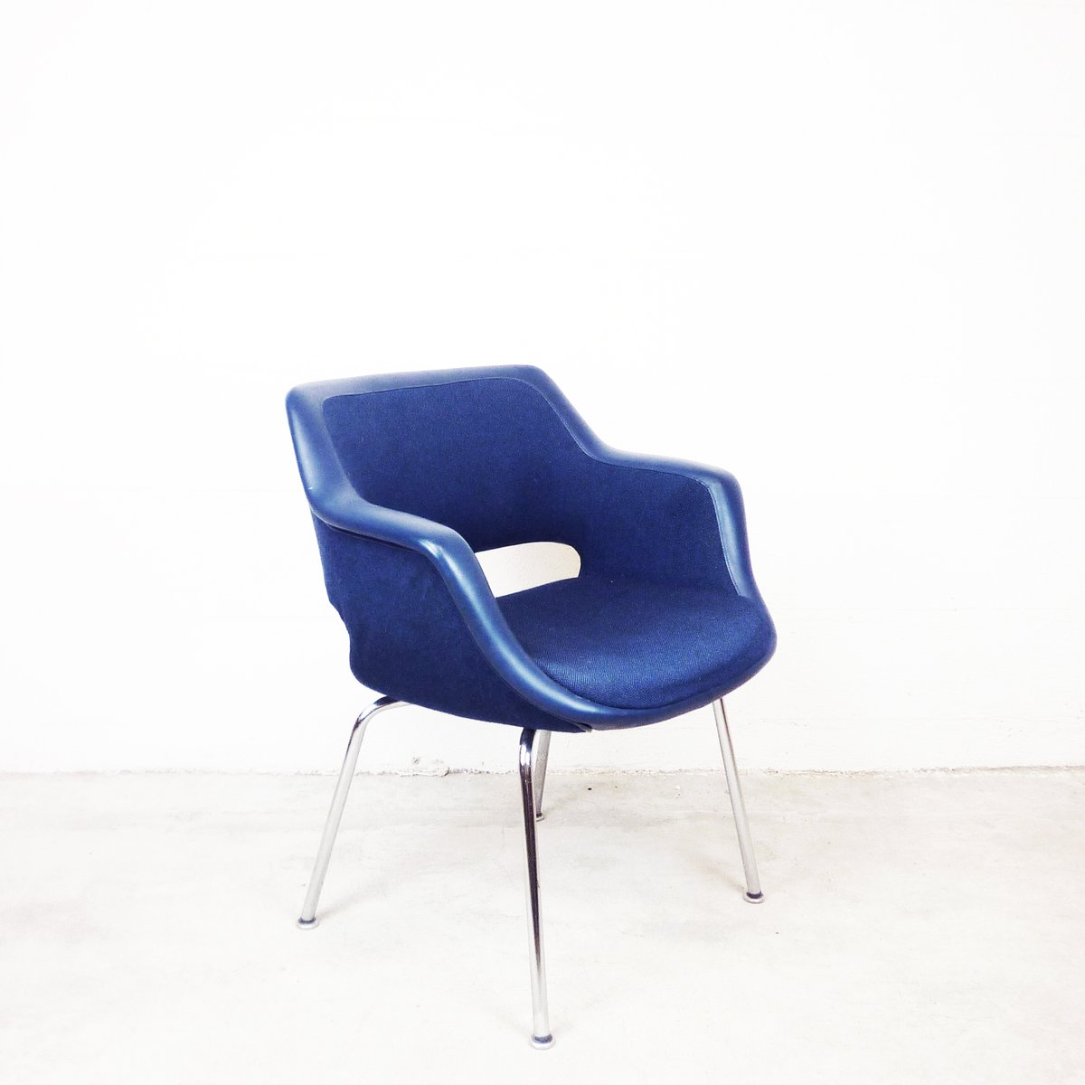 Charming Vintage Blue Armchair By Olli Mannermaa