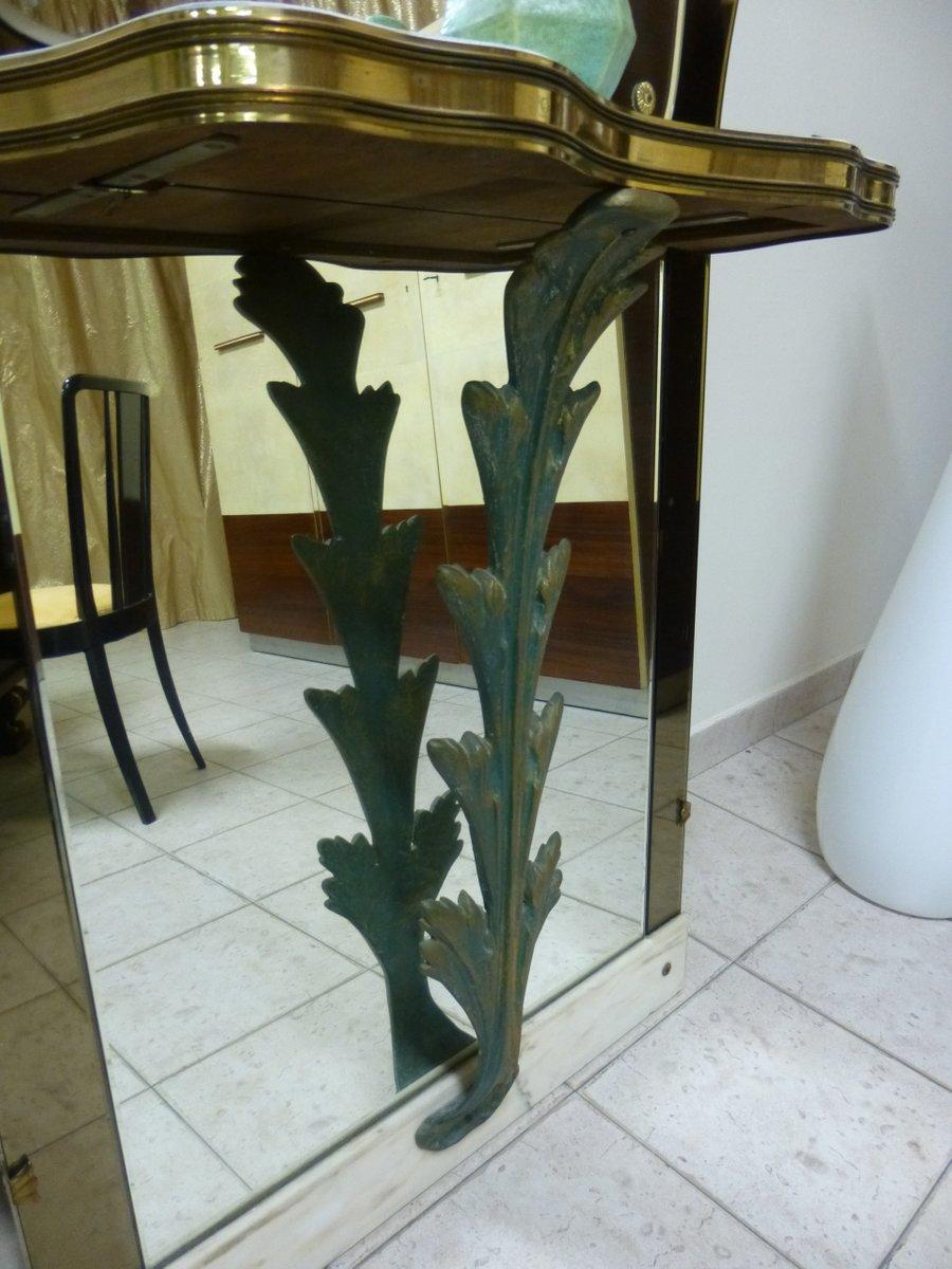 Consolle vintage in marmo e bronzo con specchio anni 39 40 for Como con specchio anni 40