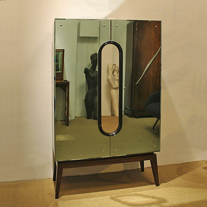 art deco bathroom mirror cabinet deco mirrored cocktail cabinet for at pamono 10759