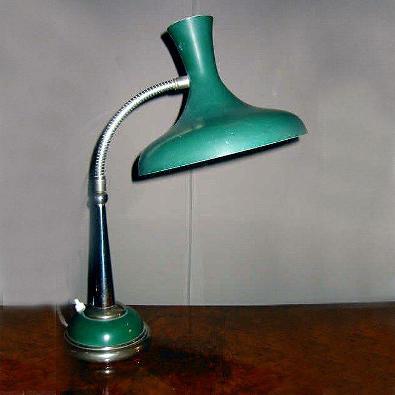lampe de bureau vintage verte 1950s en vente sur pamono. Black Bedroom Furniture Sets. Home Design Ideas