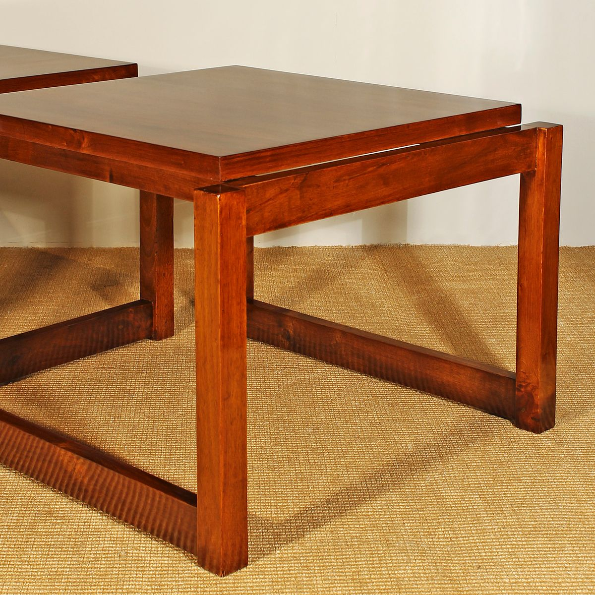 tables basses vintage cubiste set de 2 en vente sur pamono. Black Bedroom Furniture Sets. Home Design Ideas