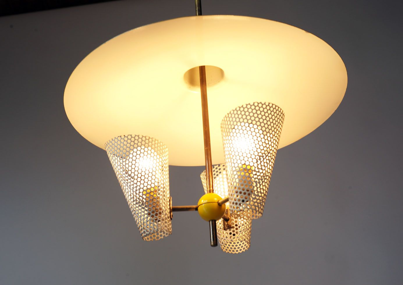 Vintage suspension lamp 1950s for sale at pamono for Suspension 4 lampes