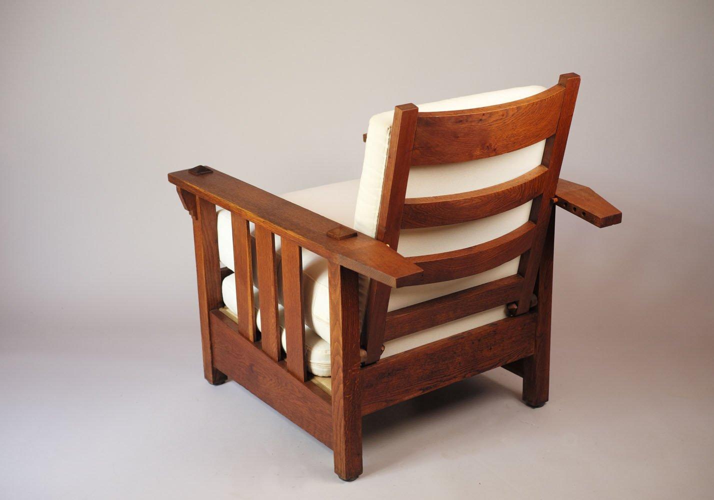 American Oak Reclining Chair, 1900s