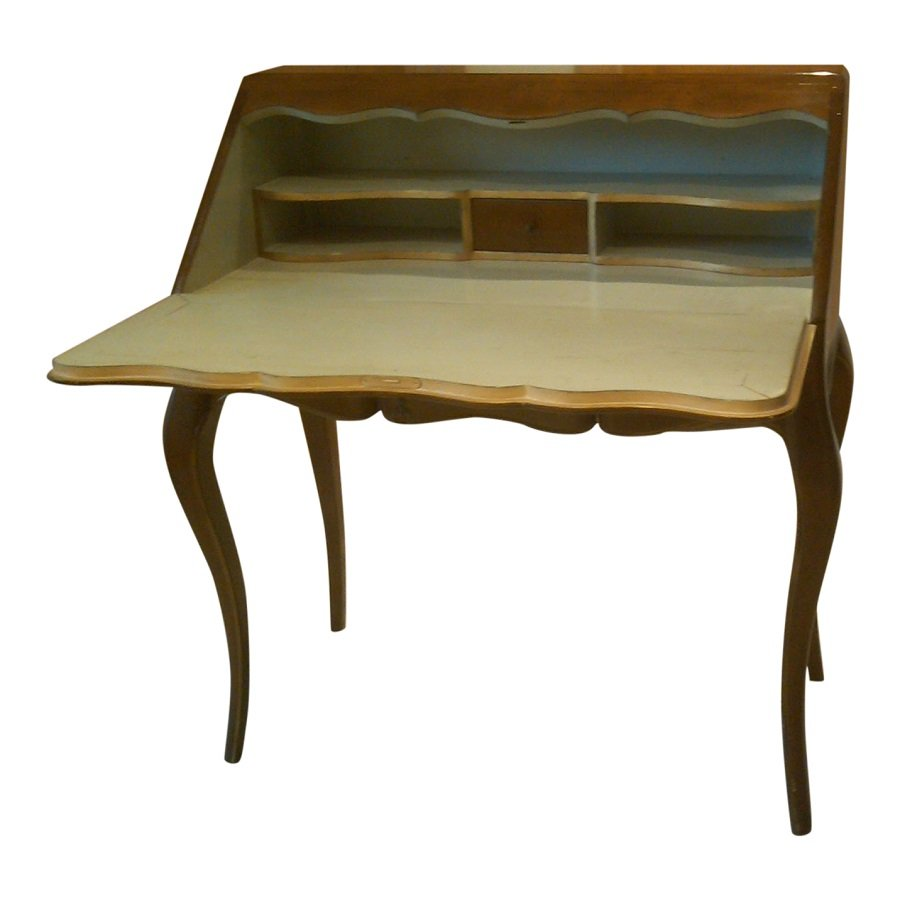 ausklappbarer franz sischer vintage schreibtisch 1950er bei pamono kaufen. Black Bedroom Furniture Sets. Home Design Ideas