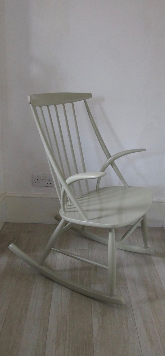 Danish Rocking Chair By Illum Wikkelso For N Eilersen, 1950s