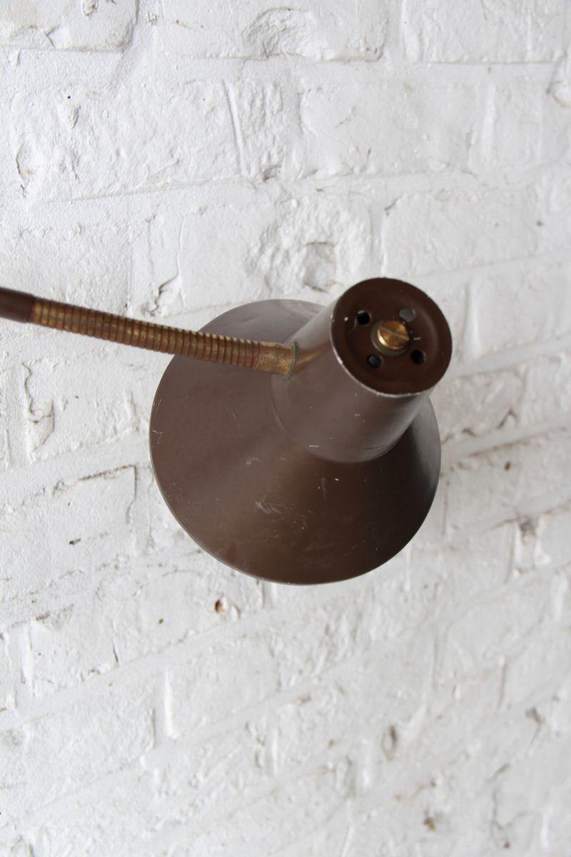 lampe ciseaux vintage industrielle marron en vente sur pamono. Black Bedroom Furniture Sets. Home Design Ideas