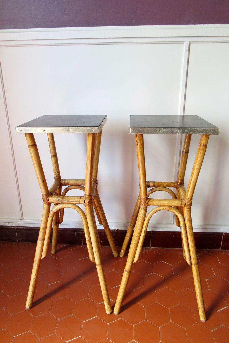 mid century hocker aus rattan 4er set bei pamono kaufen. Black Bedroom Furniture Sets. Home Design Ideas