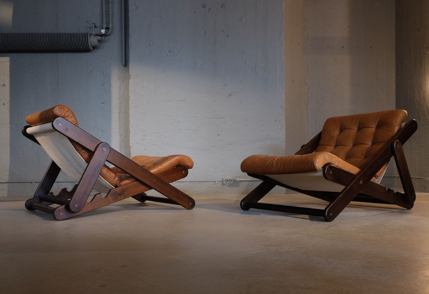 Large Swedish Lounge Chairs By Gillis Lundgren, 1970s, Set Of 2 For Sale At  Pamono