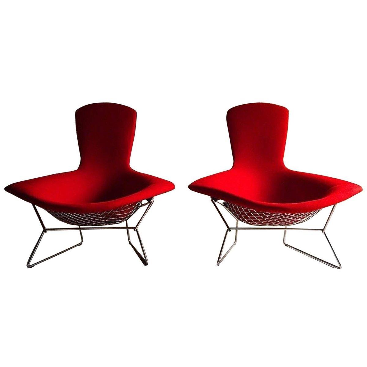 bird st hle mit hoher lehne von harry bertoia f r knoll 1980er 2er set bei pamono kaufen. Black Bedroom Furniture Sets. Home Design Ideas