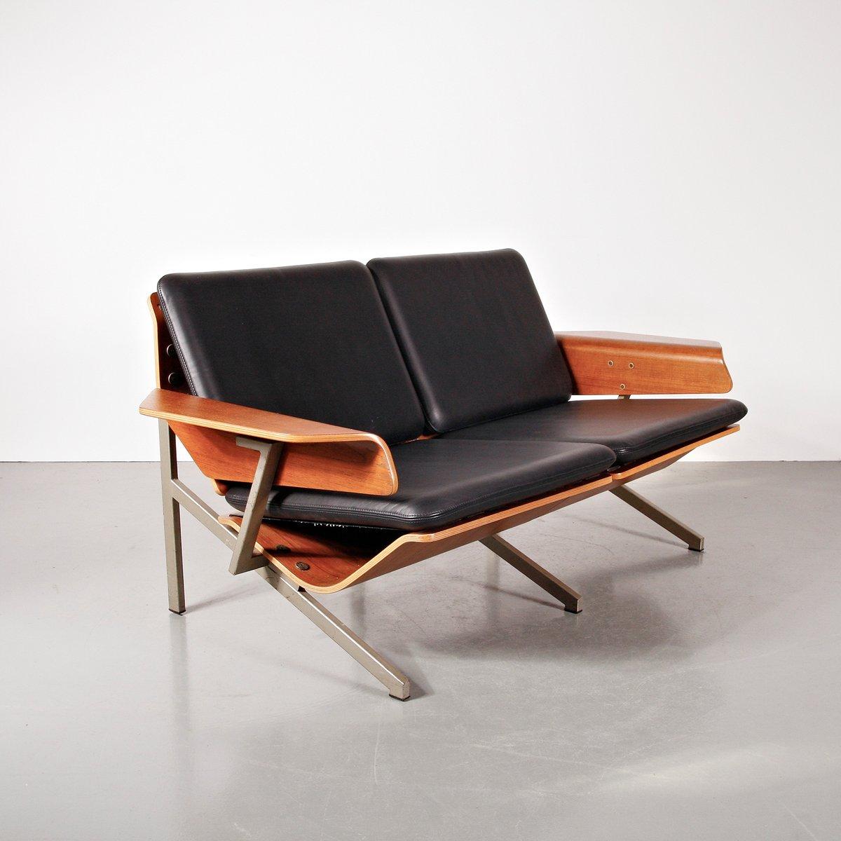 2 Seater Leather Sofa By Cornelis Zitman 1964