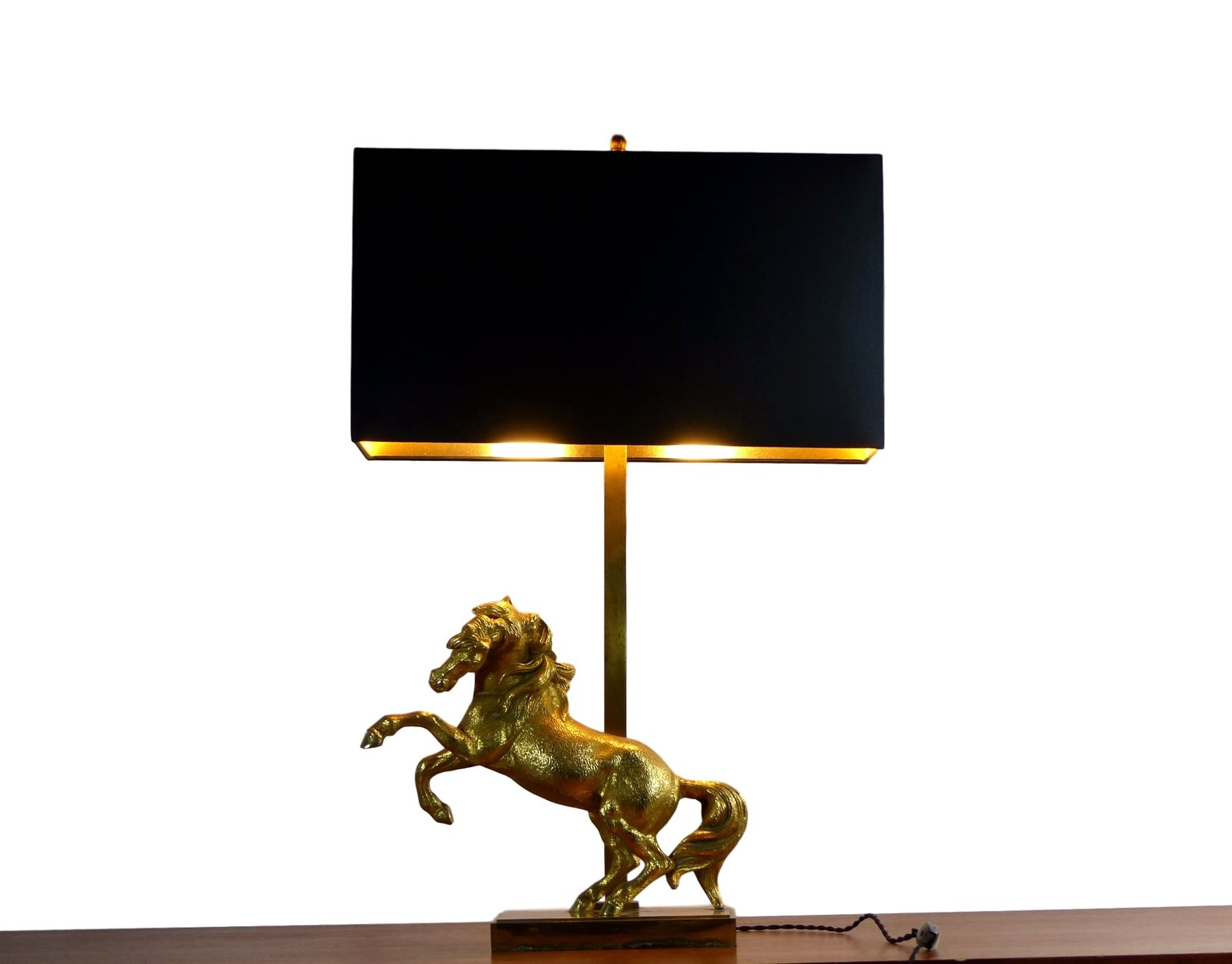 Gilded Horse Table Lamp, 1960s - Gilded Horse Table Lamp, 1960s For Sale At Pamono