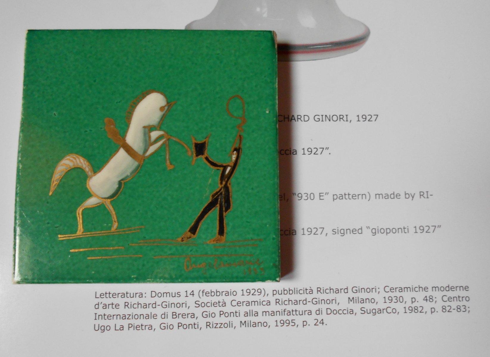 Art deco ceramic tile by gio ponti for richard ginori 1933 for price 72300 regular price 77500 dailygadgetfo Images