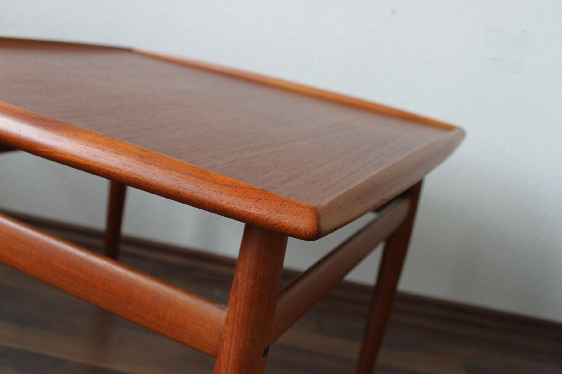 teak beistelltisch von grete jalk f r glostrup 1960er bei pamono kaufen. Black Bedroom Furniture Sets. Home Design Ideas
