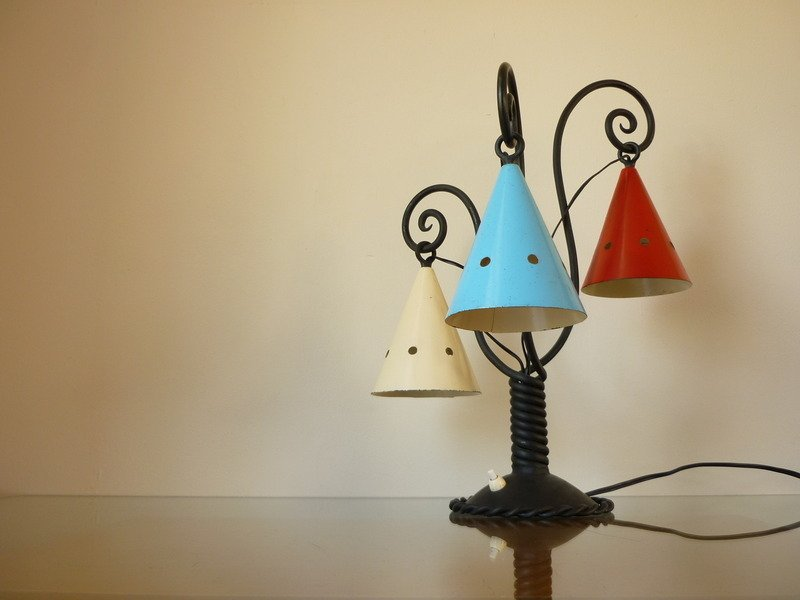 Mid century cast iron table lamp 1930s for sale at pamono mozeypictures Images