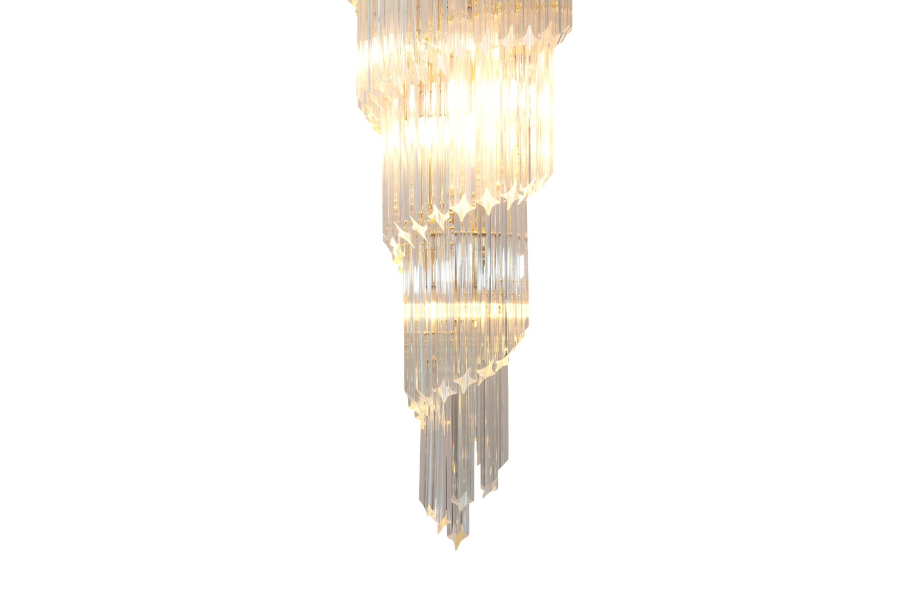 Spiraling chandelier in murano crystal glass from venini 1960s for spiraling chandelier in murano crystal glass from venini 1960s arubaitofo Gallery