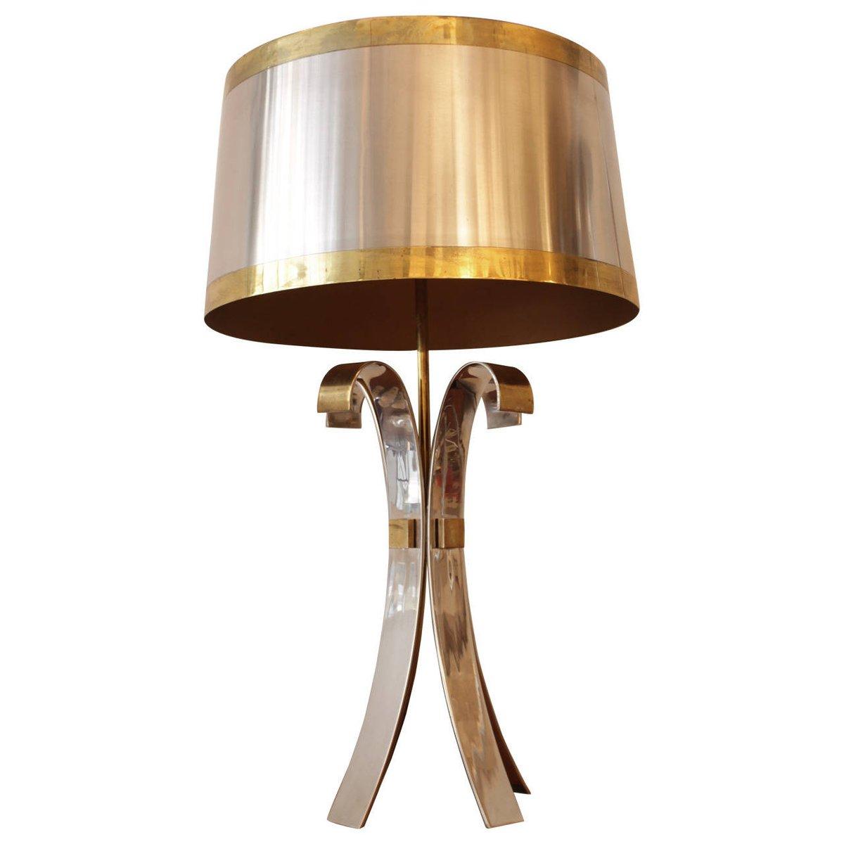Brass chromed steel table lamp from maison charles 1970s for brass chromed steel table lamp from maison charles 1970s aloadofball Images