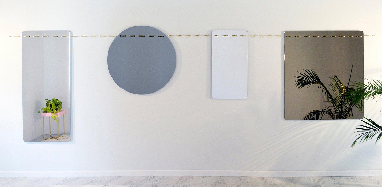 Miroir rond avec le cadre cousu par debra folz design en for Miroir rond sans cadre