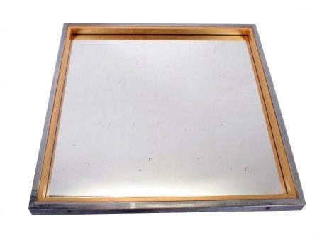 Specchio vintage in metallo anni 39 70 in vendita su pamono for Specchio unghia anni 70