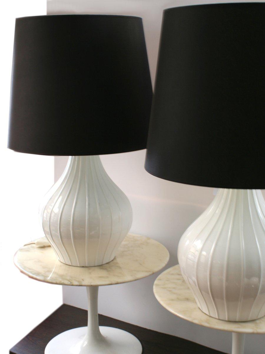 Lampade da tavolo vintage in ceramica anni 39 60 set di 2 - Lampade da tavolo vintage ...