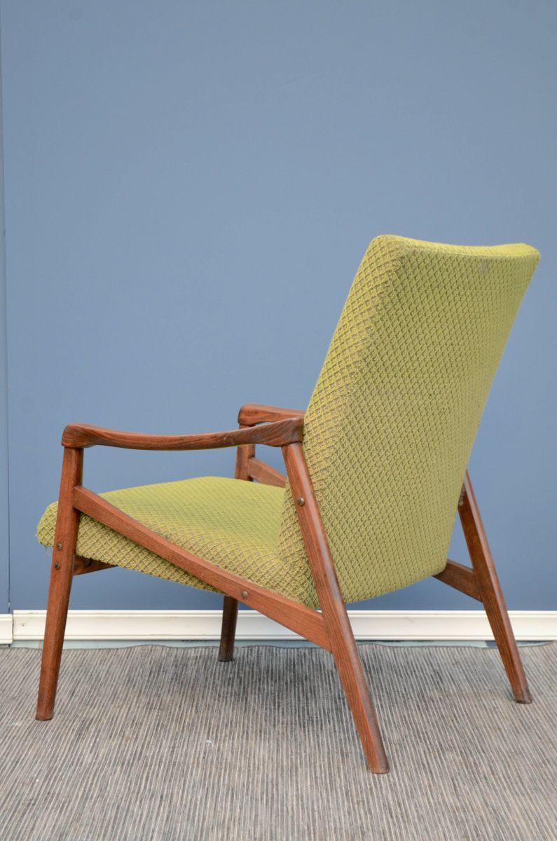 d nischer sessel aus walnussholz 1960er bei pamono kaufen. Black Bedroom Furniture Sets. Home Design Ideas