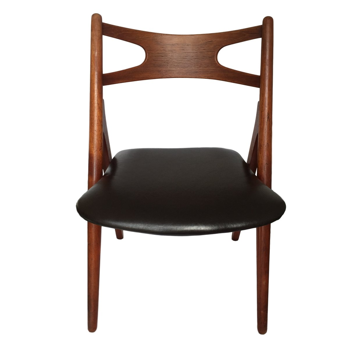 ch 29 sawbuck st hle aus teak von hans wegner f r carl hansen s n 1950er 6er set bei pamono. Black Bedroom Furniture Sets. Home Design Ideas