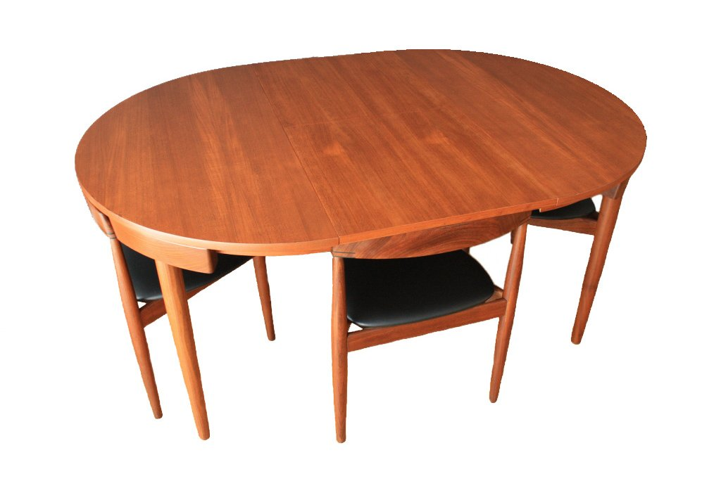Extendable Dining Table by Hans Olsen for Frem Rojle for sale at Pamono