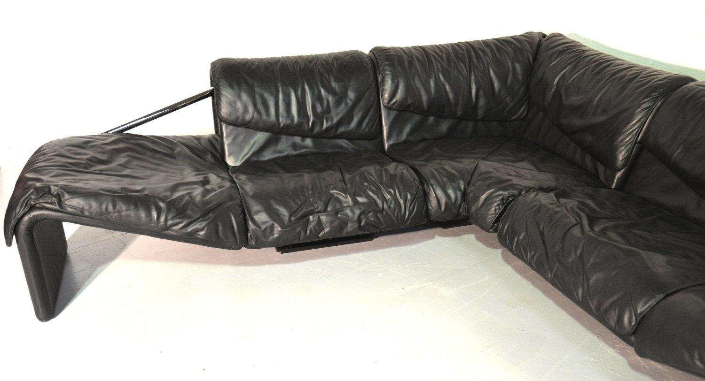 inmotion ecksofa aus leder von de sede 1970er bei pamono kaufen. Black Bedroom Furniture Sets. Home Design Ideas