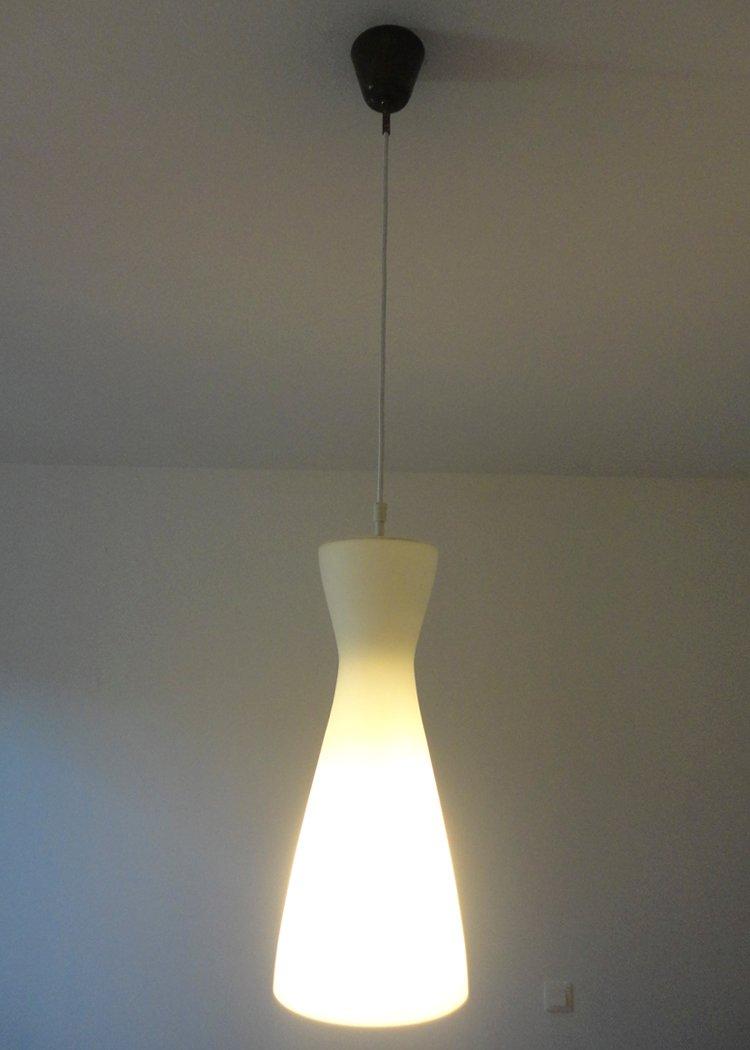 lampe suspension vintage en verre 1960s en vente sur pamono. Black Bedroom Furniture Sets. Home Design Ideas