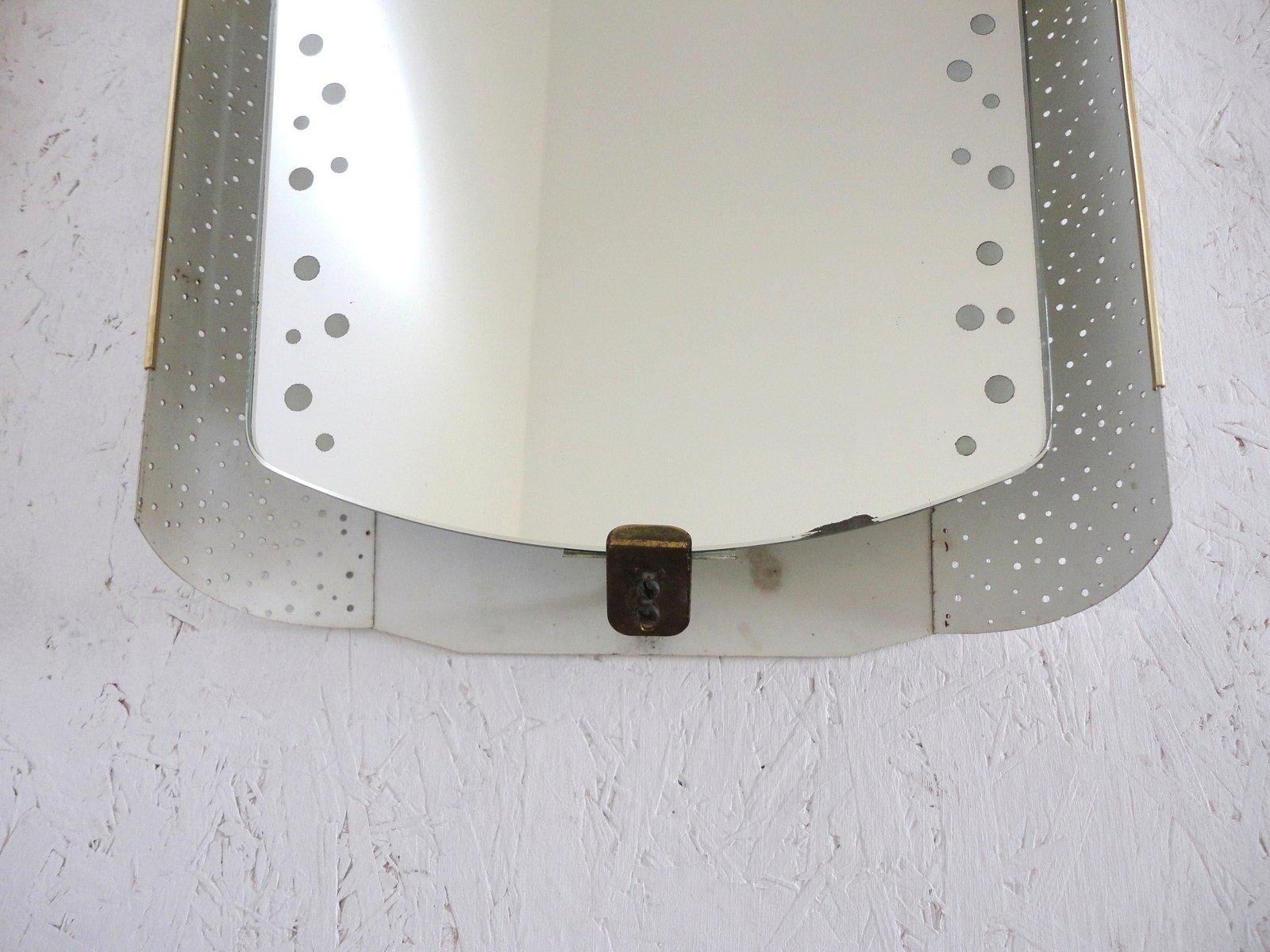back lit mirror by ernest igl for hillebrand 1950s for sale at pamono. Black Bedroom Furniture Sets. Home Design Ideas