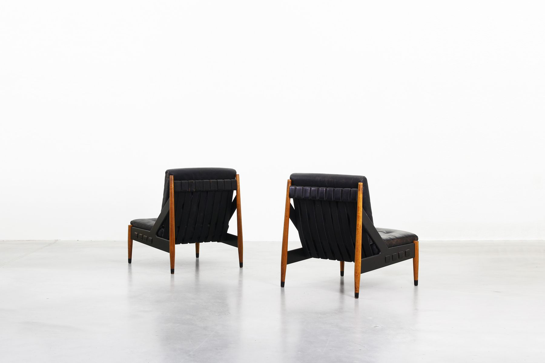 Lounge chairs by egon eiermann for wilde spieth set of for Lounge chair kopie