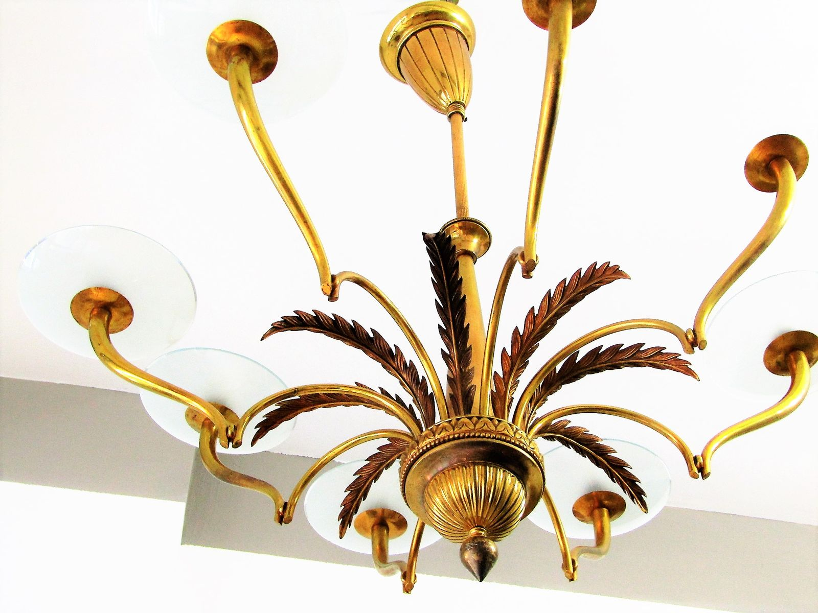 Italian glass disks chandelier 1930s for sale at pamono a1112300 mozeypictures Gallery