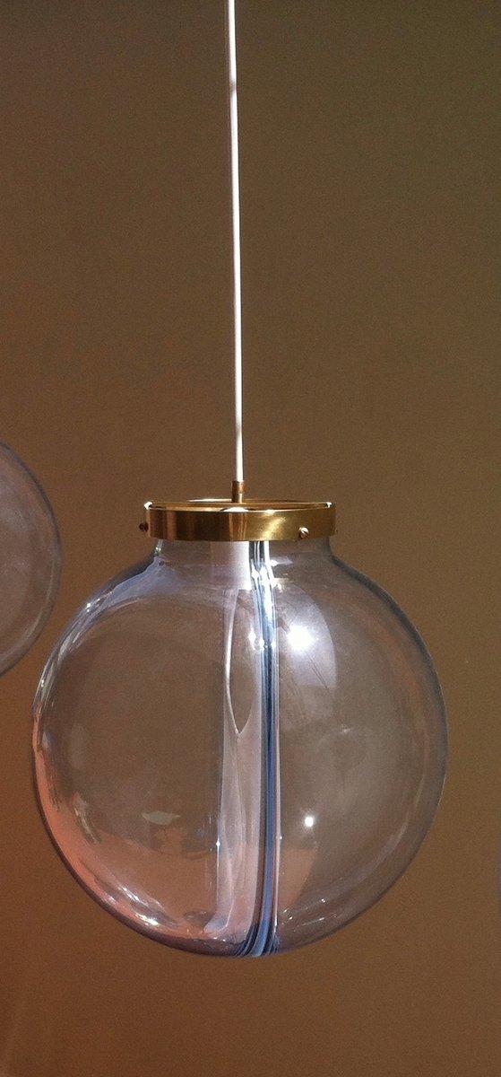 gro e mid century membrane murano glaskugel h ngelampe von. Black Bedroom Furniture Sets. Home Design Ideas