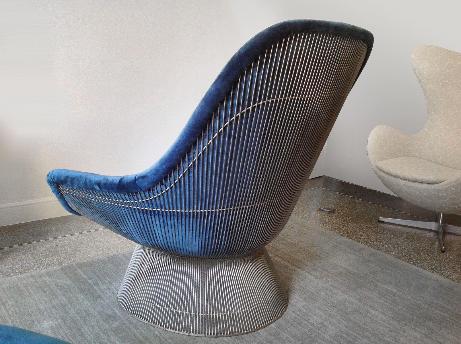 Vintage Easy Chair U0026 Ottoman By Warren Platner For Knoll International