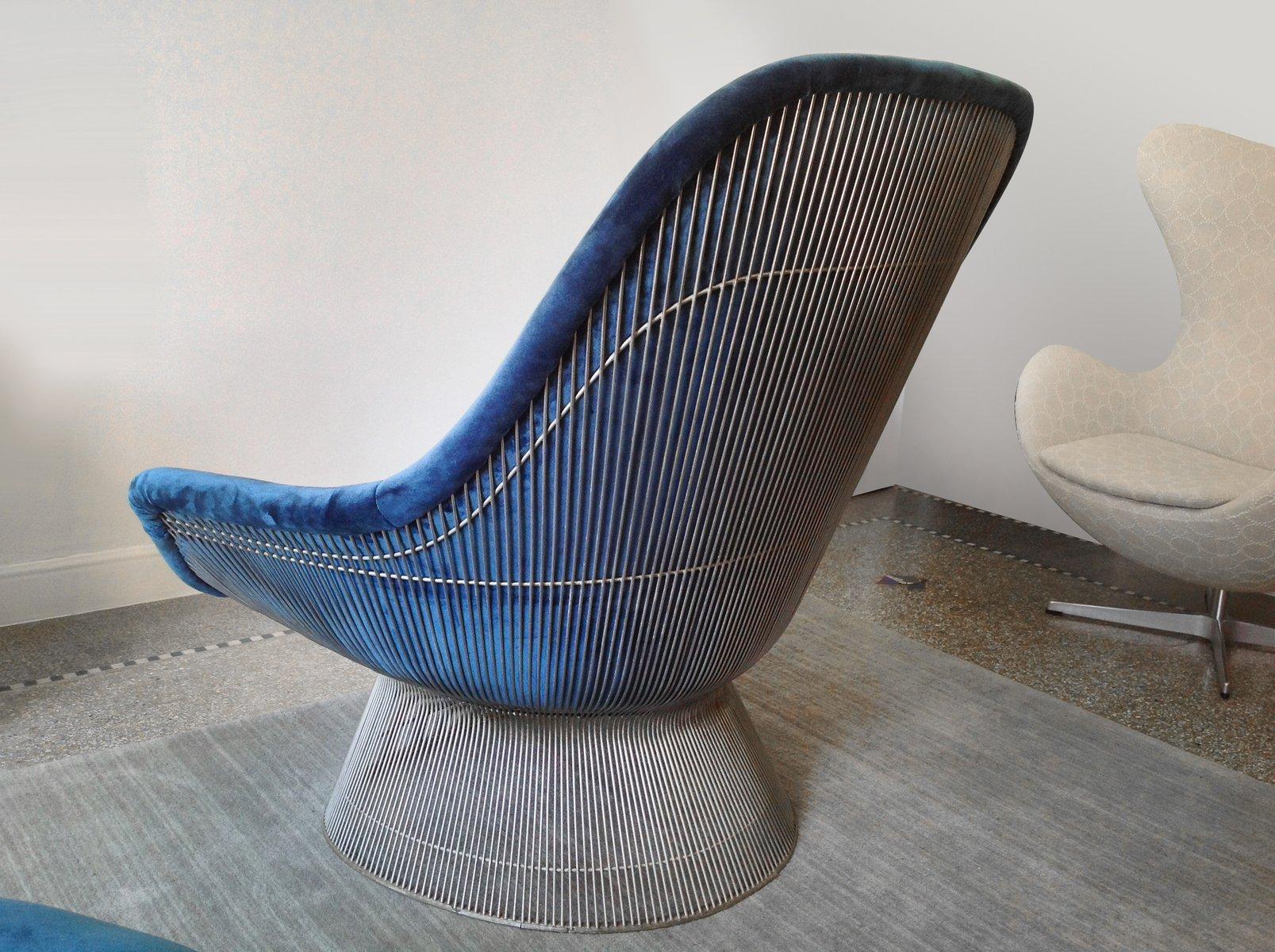 Vintage Easy Chair U0026 Ottoman By Warren Platner For Knoll International