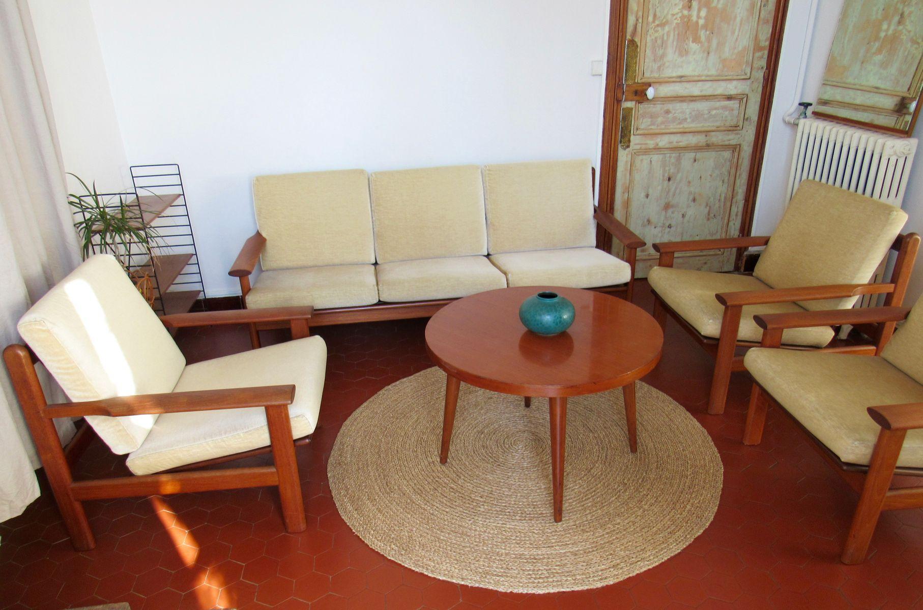 Model Living Room. Model 390 Living Room Set by Poul Volther for Frem Rolje  1960s of 4