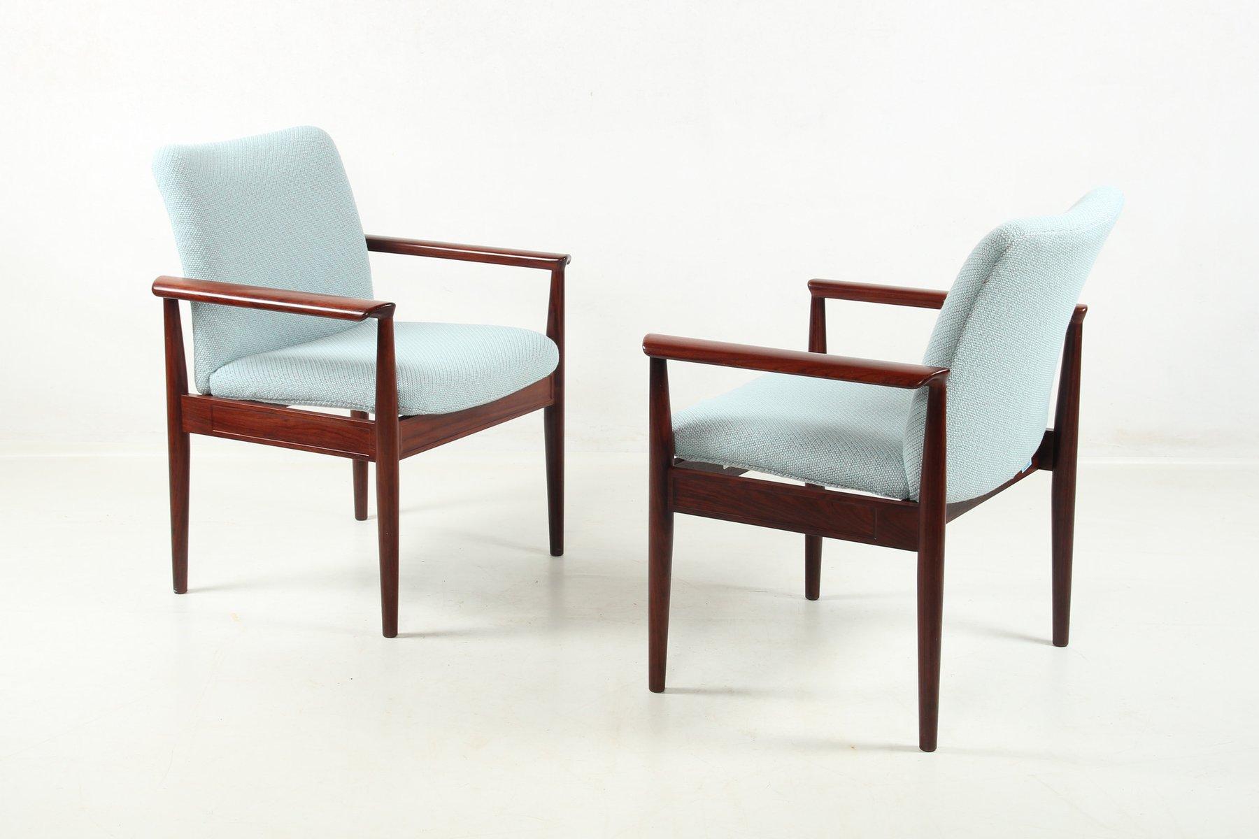 Diplomat Chair In Tulipwood By Finn Juhl For Cado, 1960s