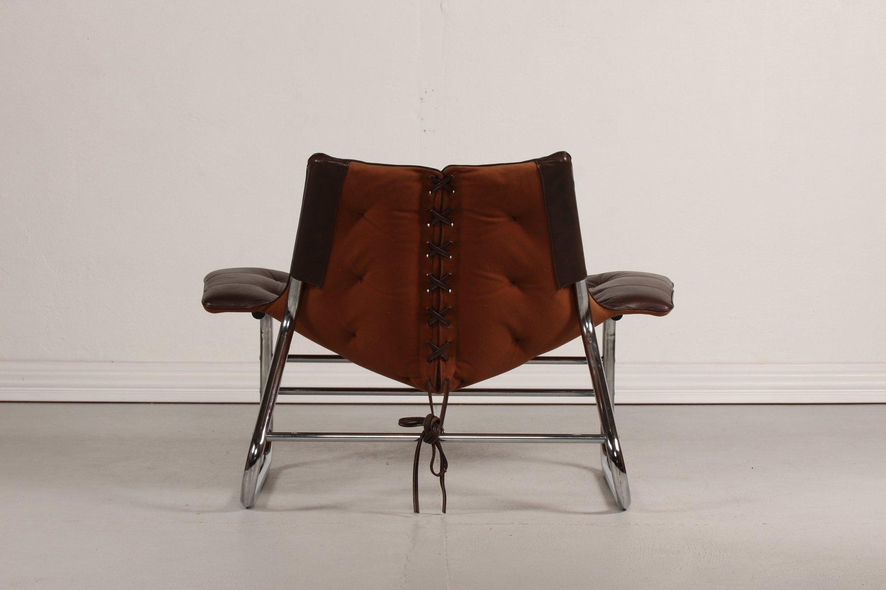 d nischer metall leder vintage sessel 1970er bei pamono. Black Bedroom Furniture Sets. Home Design Ideas