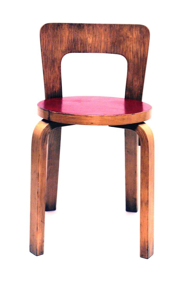 vintage modell 65 stuhl von alvar aalto f r artek bei pamono kaufen. Black Bedroom Furniture Sets. Home Design Ideas