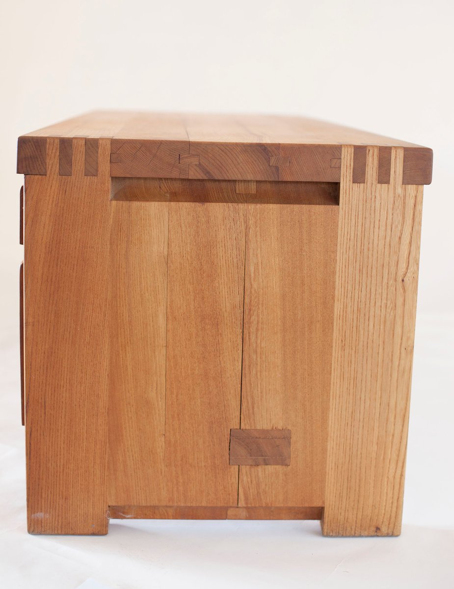 niedrige r14a kommode mit f nf schubladen von pierre chapo. Black Bedroom Furniture Sets. Home Design Ideas