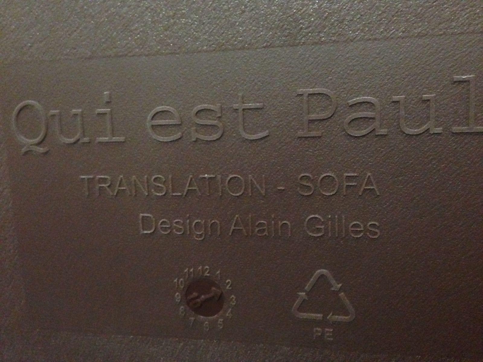 model translation sofa by alain gilles for qui est paul 2008 for sale at pamono. Black Bedroom Furniture Sets. Home Design Ideas