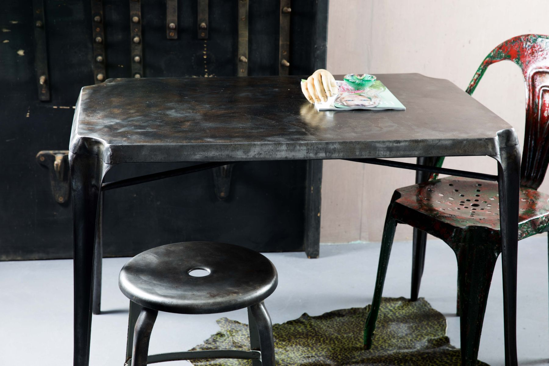 Metal Table By Joseph Mathieu For Multipls 1950s Sale At Pamono