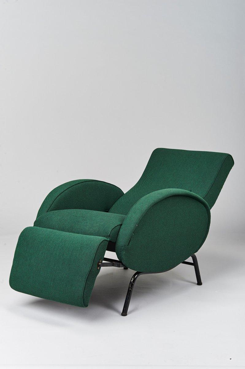 Poltrona reclinabile di nino zoncada italia anni 39 50 in for Poltrona design anni 50