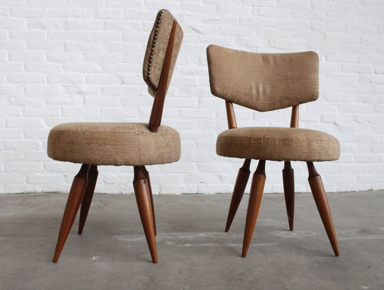 Italian side chairs 1950s set of 2 for sale at pamono for Side chairs for sale