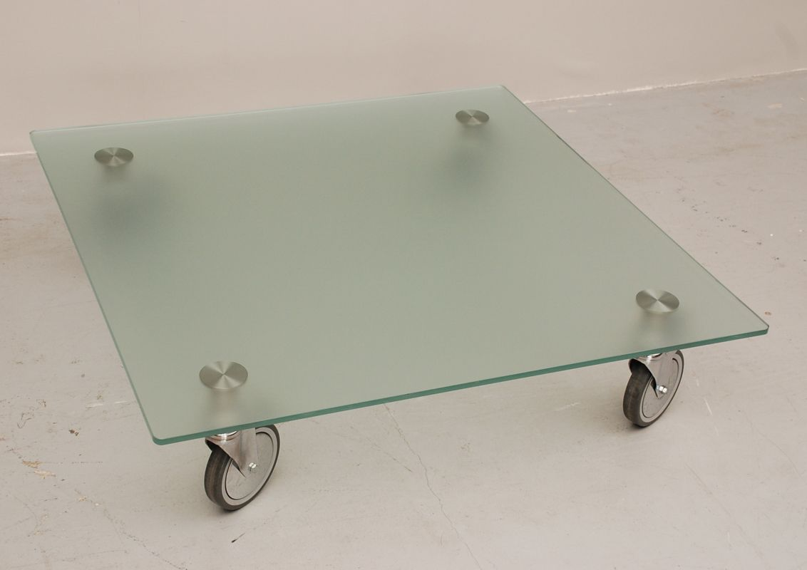 glas couchtisch auf r dern bei pamono kaufen. Black Bedroom Furniture Sets. Home Design Ideas