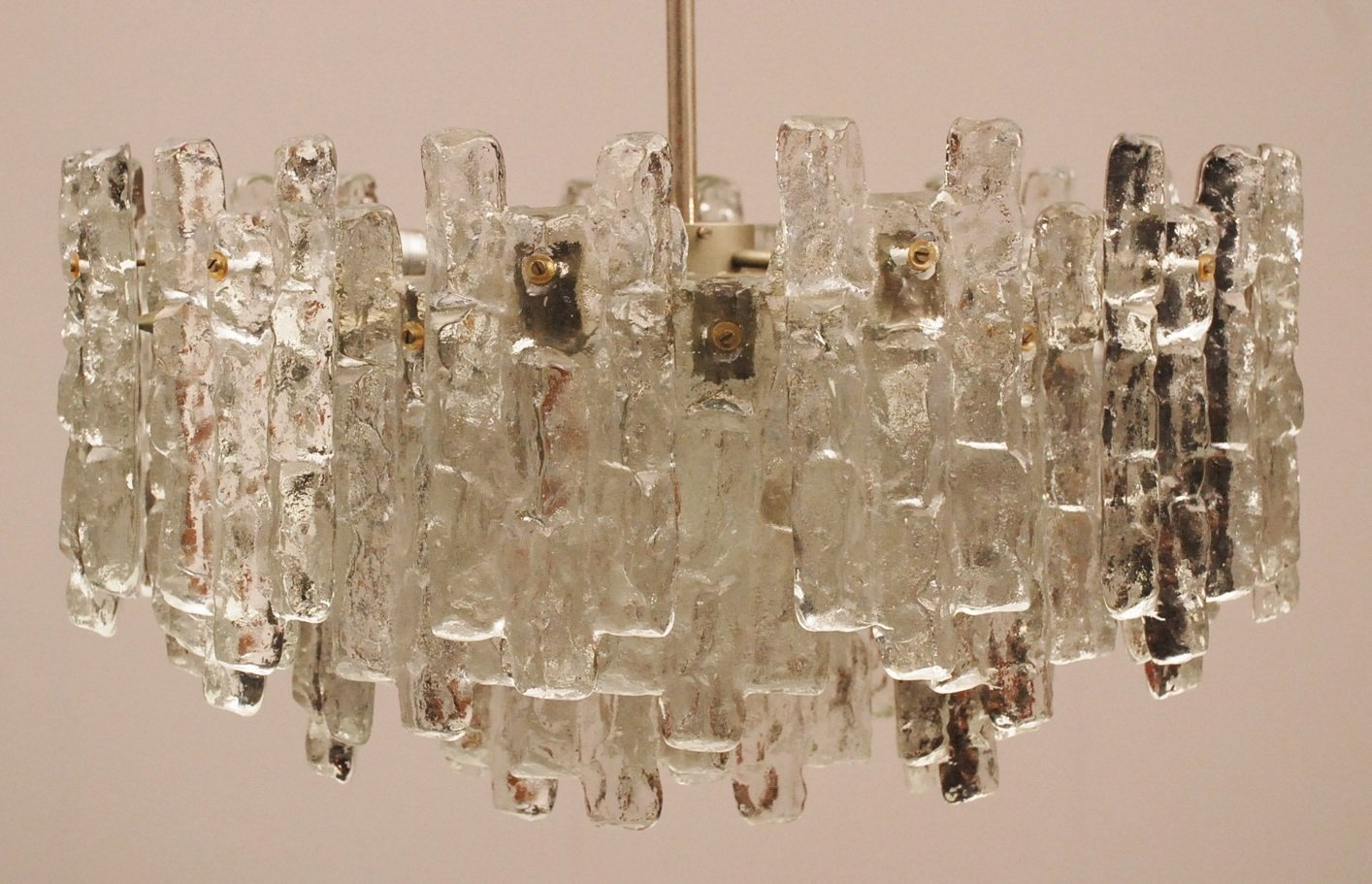 Ice glass chandelier from kalmar for sale at pamono price per piece mozeypictures Choice Image